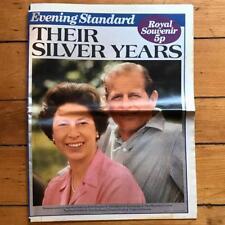 Vintage Evening Standard Newspaper Oct 28 1972 Royal Silver Wedding Edition
