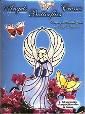 Angels Crosses Butterflies Stained Glass Patterns, Folder type Book