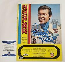 Richard Petty Signed Magazine 1975 The WIlkes 400 Program Winston Cup Beckett