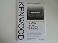 KENWOOD TS-2000 (DUTCH) (GENUINE MANUAL ONLY)............RADIO_TRADER_IRELAND.