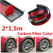 2x 1.5M Carbon Fiber Car Fender Flare Wheel Eyebrow Trim Moulding Protector Lip