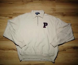 Vintage Polo Ralph Lauren Big P Logo 1/4 Zip Up Sudadera