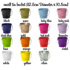 Small Metal Pails Tin Buckets Wedding Party Favours candle Bombonieres
