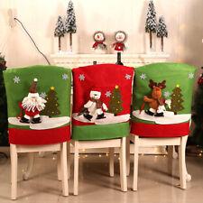 Navidad Decoración Silla cubre Comedor Cubierta de asiento de Santa Claus fiesta decoración de casa 1pc
