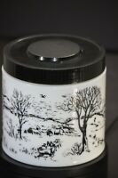 Maxwell House Coffee Vintage Milk Glass Canister