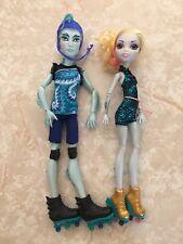 """Monster High 11"""" Doll LAGOONA Blue Gil Webber Roller Skates Maze WHEEL LOVE Lot"""