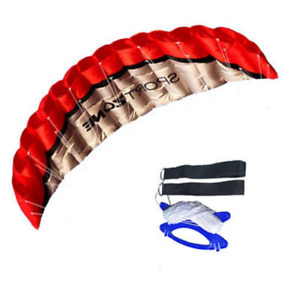 Huge 2.5m Outdoor Toy Dual Line Parafoil Parachute Stunt Sport Beach Kite