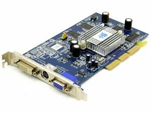 HIS 4C78A232 AMD ATI Radeon 9250 128MB DDR DVI S-VIDEO AGP Graphic Card C78-15-D