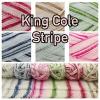 King Cole Stripe DK 100% Acrylic Knitting Wool Yarn 100g