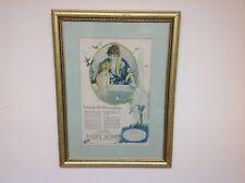 "Framed Fairy Soap Advertising Print Woman Bathing Child 22"" x 16"""