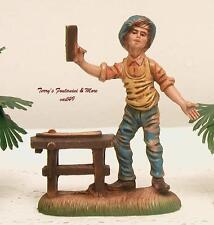 """Italy 4""""Nativity Village Color Carpenter Figure Use w/Fontanini"""