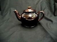"VINTAGE BROWN SADLER MADE IN ENGLAND TEAPOT W/LID CLASSIC GLAZE 4.25"" TALL X 7"""