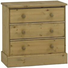 Pine Modern 60cm-80cm 3 Chests of Drawers