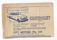 Chevrolet Styleline Original Advertisement removed from a 1950 Magazine