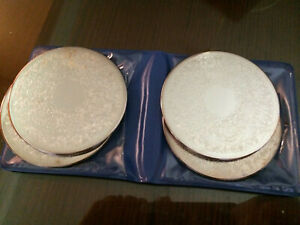VINTAGE STRACHAN SILVER PLATE COASTERS x4 MADE IN AUSTRALIA