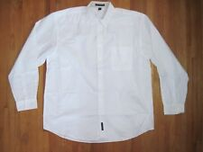 Big & Tall Men's Port Authority White Oxford Long Sleeve Shirt Size 3XLT New
