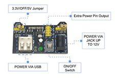 Módulo De Alimentación Breadboard para Placa Arduino Protoboard sin Soldadura Placa 3.3/5V