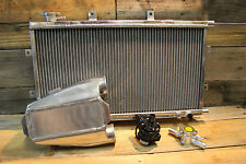 Aluminium Water To Air Intercooler Kit Stumpy Series W/ Inline Filler Neck