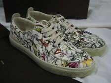 "GUCCI ""Flora"" Canvas Boat Shoe Men's size 10 US / 9 IT"