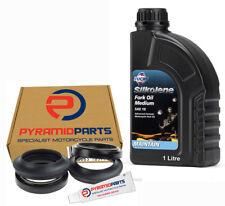 Fork Oil Seals Dust Seals (push-in) & 1L Oil for Kawasaki KLR250 85-03