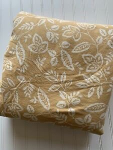 Martha Stewart Duvet Cover Yellow White Florals Cotton Flannel KING 100x88 COZY!
