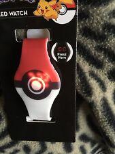 Pokemon pokeball  led digital   wrist watch