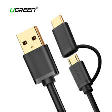 2 en 1 cable USB-C Micro USB carga rapida y datos UGREEN multifuncion 1M 2M