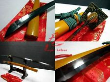 Battle ready clay tempered T10 steel katana sword adsorb tungsten blade sharpene
