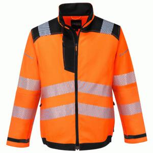 Portwest T500 PW3 Hi-Vis Work Jacket - Orange/Navy