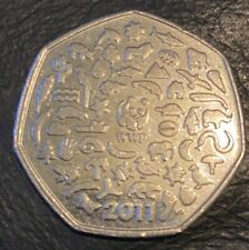 2011 WWF 50P COIN CIRCULATED WORLD WILDLIFE FUND FIFTY PENCE