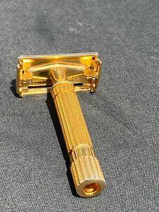 Gillette Vintage Aristocrat Gold finished Double Edge razor, VG/EX