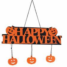 Fun Halloween Pumpkin Pendant Door Decor Hanging Party Decor Halloween Banner FT