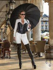 Leder Ledercatsuit Anzug Catsuit Overall 4-019K Weiß Maßanfertigung