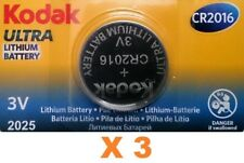 Pila Kodak CR2016 - Ultra Lithium Battery 3V - Caducidad 2025 - Pack De 3 Pilas