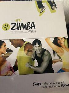 ZUMBA Fitness 4 Disc DVD Box Set Beginner Advanced, Power, Abs Buns Thighs Dance