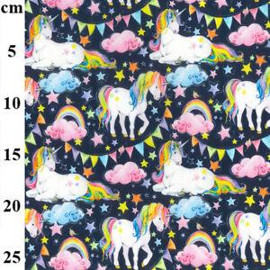 100% Cotton Fabric John Louden Rainbow Unicorns Stars Bunting Stars