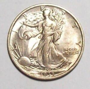 1935-P  WALKING LIBERTY HALF DOLLAR  Nice UNC   #12C55
