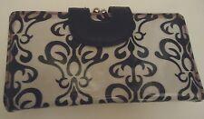 Ladies Paris Design Wallet, Black/White