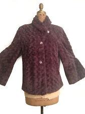PAMELA McCoy Purple Faux Rabit Fur Spring To Fall Jacket/ COAT- S/M