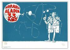 Affiche Serigraphie YOANN Spirou et Fantasio Zorglub 133ex signée 30x42 cm
