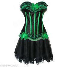 Burlesque Showgirl Corset & Long Skirt Costume - Regular Sizes