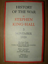 HISTORY OF THE WAR VOLUME 3 NOVEMBER 1939 STEPHEN KING-HALL HB DJ