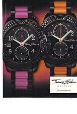 PUBLICITE ADVERTISING  2011  THOMAS SABO montres aux bracelets colorés    220812