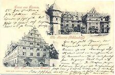 Giessen, Alte Kaserne, frühe AK, 1898