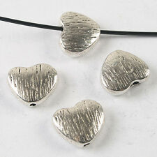 10pcs dark silver tone heart spacer beads h3686
