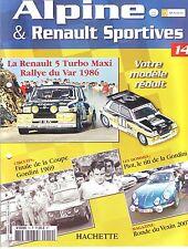 CAHIER AUTOMOBILE Renault Sportive Alpine      10 pages