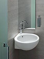 Lavabo bagno sospeso o appoggio ad angolo sx 46 cm You&me in ceramica Hatria