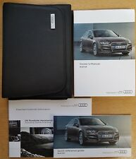 AUDI A4 SALOON AND AVANT HANDBOOK OWNERS MANUAL 2015-2017 WALLET PACK B-547