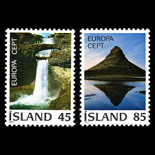 """Iceland 1977 - Europa stamps """"Nature & Mountains"""" Landscape - Sc 498/9 MNH"""