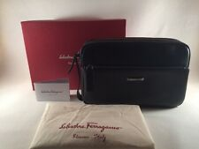 Salvatore Ferragamo San Francisco 24-9801 Deep Black Calf Bag $1300
